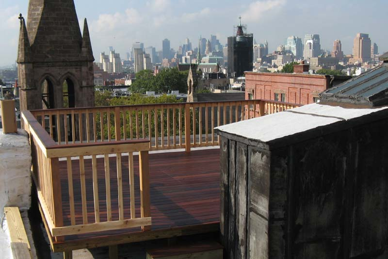 Ipe roof deck park slope brooklyn